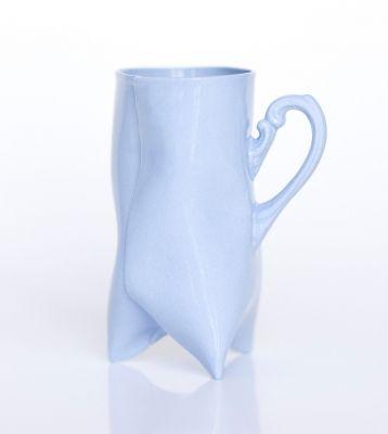 Kubek TRIDENT - wysoki z niebieskiej porcelany // Endesign