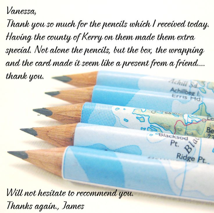 customer review thank you will not hesitate to recommend you. map of Ireland pencils by six0six design