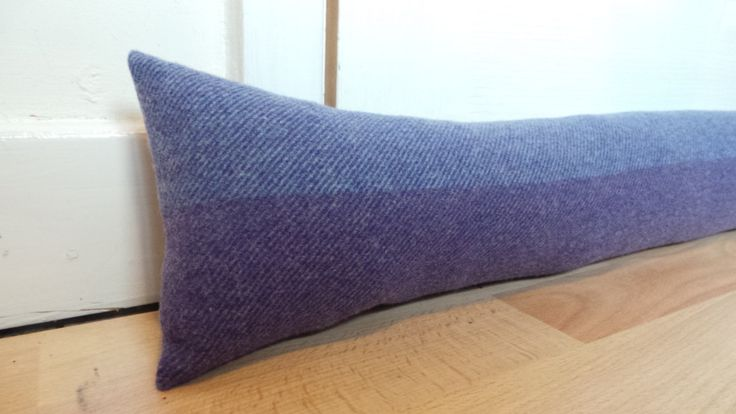100cm long Lavender Purple Door draught excluder Woven wool fabric by Abraham Moon Handmade Filled by CowlingCountryCrafts on Etsy