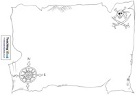 Blank printables to design your own treasure map, pirate flag, etc!