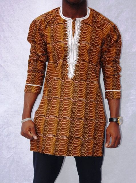 African men's shirt/top (African Clothing) on EtsyAfrican prints fashion ~African Prints, Ankara, kitenge, African women dresses, African fashion styles, African men fashion, Nigerian style, Ghanaian fashion ~DKK