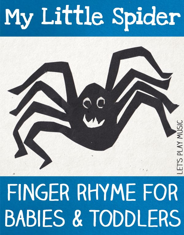 My Little Spider Finger Rhyme for 2 - 3 year olds - Let's play Music