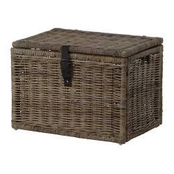 IKEA gray woven bin - for toys 28 ¼x19 ¾x19 ¾""