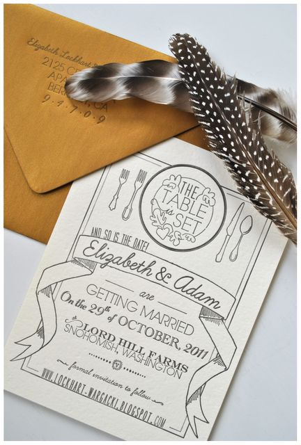 My Handmade Save-the-Date Cards #Stationery #Letterpress #Wedding