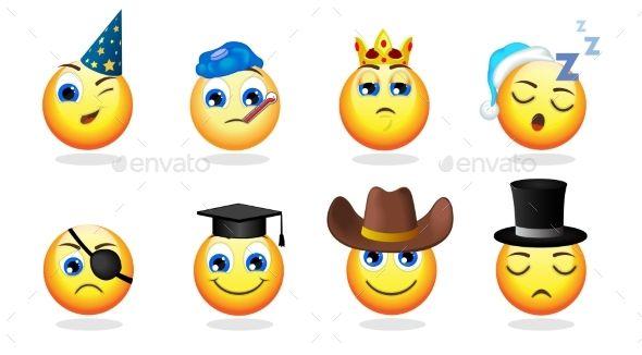 Cartoon Emoticons Set