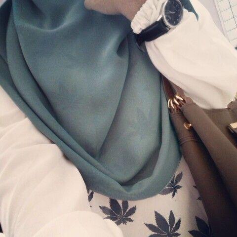 Modest simple hijab