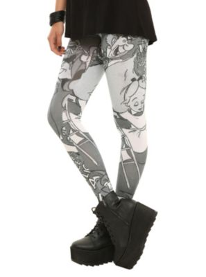 Disney Alice In Wonderland Comic Tonal Leggings. I think I really really need these....like now!