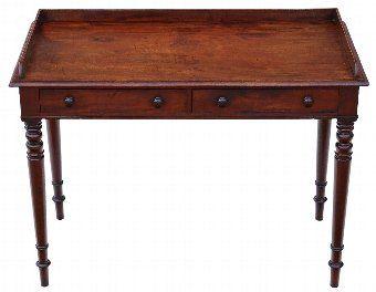 Antique Regency C1825-37 mahogany writing desk or dressing table 4398 4398