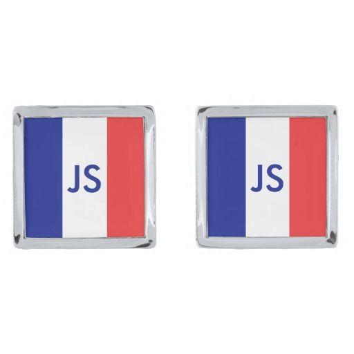France flag cuff links