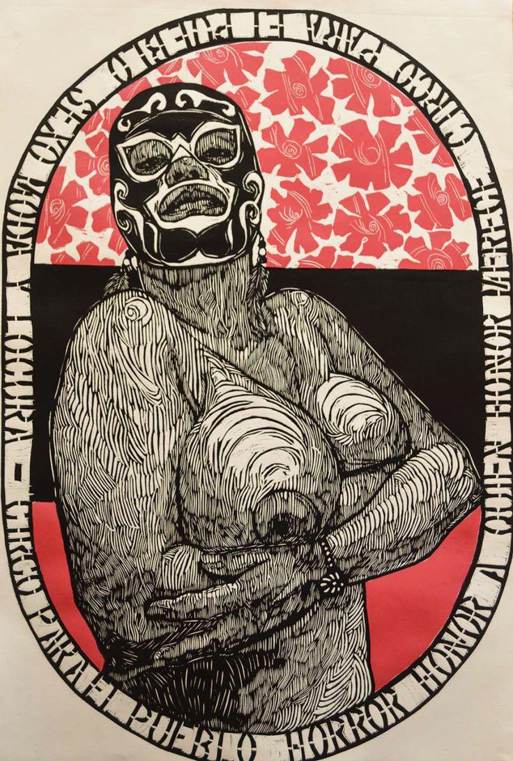 Cabezabajo. Blog de comics, lucha libre y cultura popular.: Los excelentes grabados de Luchadoras enmascaradas de Irving Herrera