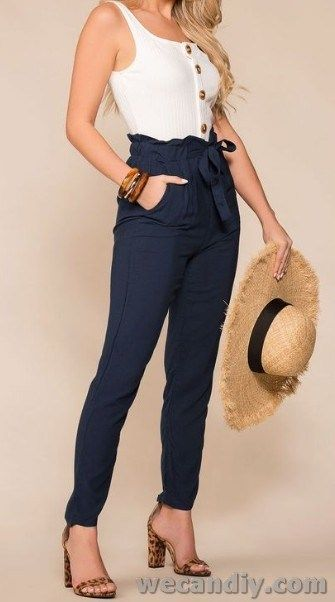 25 Best women summer pants casual outfits