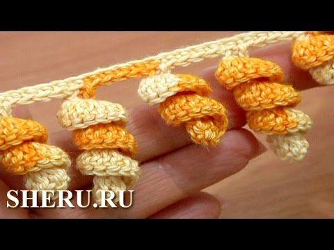 How To Crochet Edging Урок 1 Обвязки крючком