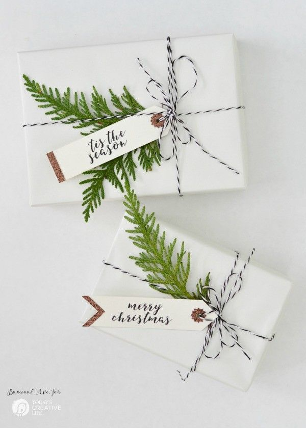 Wunderschönne Geschenkanhänger DIY | Make simple Christmas gift tags for simple gift wrapping that looks amazing!