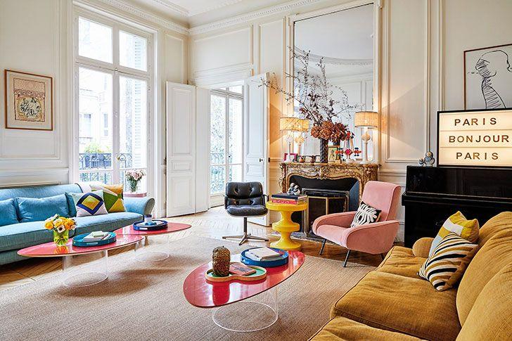 Красочная квартира арт-директора в Париже   Пуфик - блог о дизайне интерьера