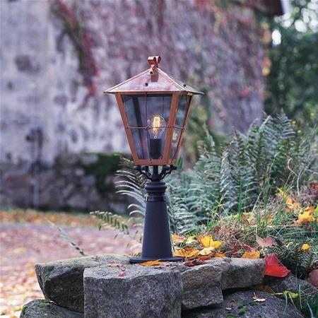 Konstsmide Copper Garden Gate Post Light Fenix 431