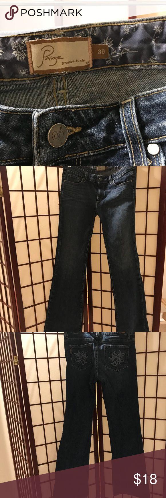 """Paige Premium Denim - Hollywood Hills - Size 30 Paige Premium Denim - Hollywood Hills - Size 30, inseam 32"""" - EUC Paige Jeans Jeans Boot Cut"""