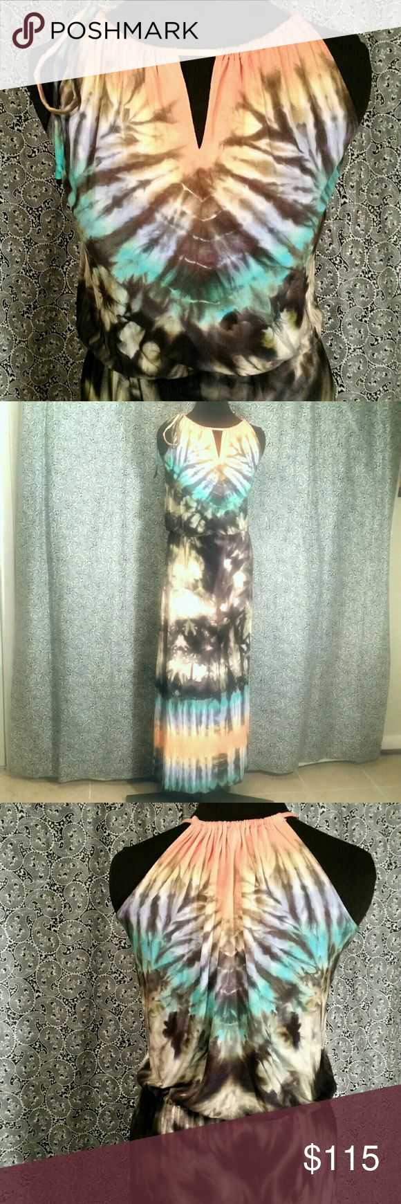 Gorgeous Tie Die Maxi This is a one of a kind maxi dress by Brightly Twisted. So pretty and so soft. Brightly Twisted Dresses Maxi