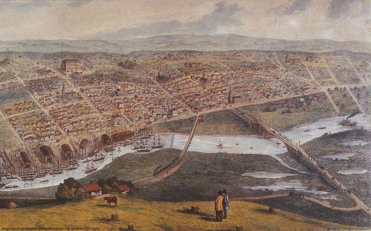 Pre‐gold rush Melbourne, circa 1854