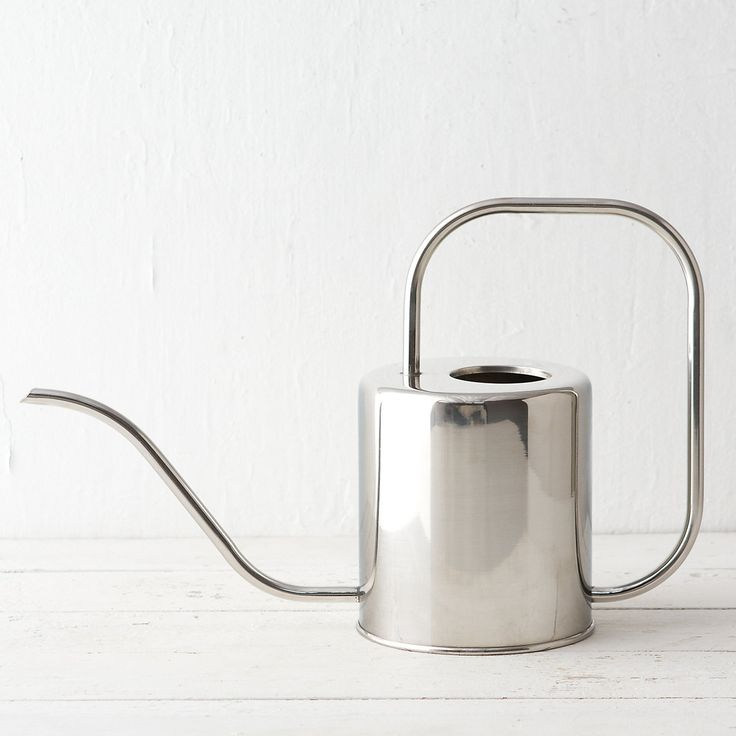 Stainless Watering Can, Large in Garden Watering at Terrain