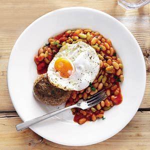 Recept - Tartaartje met witte bonen in tomatensaus - Allerhande