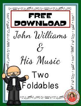Free foldable for John Williams. Cute