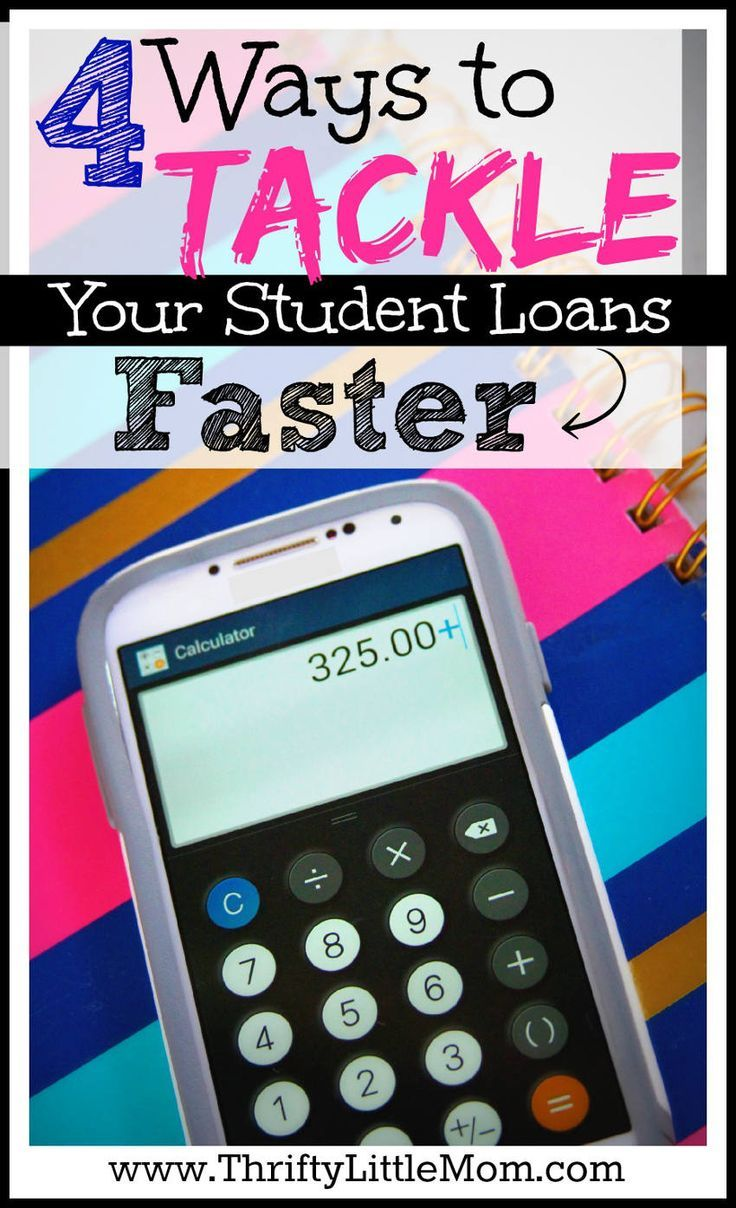 4 Ways to Tackle Your Student Loans Faster. If you've been thinking about or actively trying to reduce your school loan debt, check out this post to see if any of these simple ideas can help speed up the process. Student Loans Payoff #StudentLoans #debt