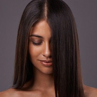 Keratin Fusion. Permanently straightens hair without damaging.