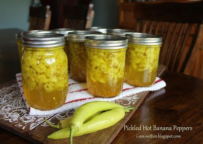 Pickled Hot Banana Peppers  I Am Within  #canning #bananapeppers