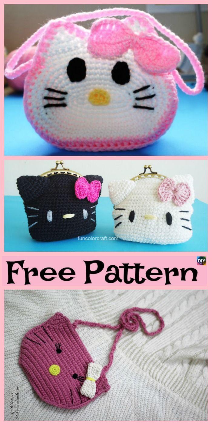 Cute Crochet Hello Kitty Purse Free Patterns Crochet Knit