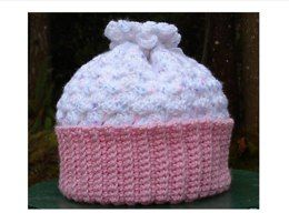 Baby Cupcake Cap – PB-101 – A crochet pattern from Nancy Brown-Designer. How sweet is this little cupcake cap. Crocheted quickly and easily, it is the perfect gift for a little newborn princess. This pattern PDF can be purchased at my Ravelry Pattern Store for $3.29, just click on the photo.
