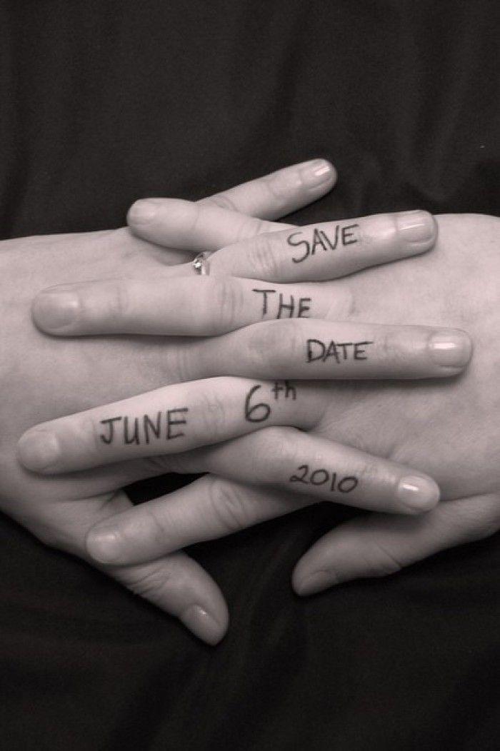 Mooi ''Save the Date'' idee...