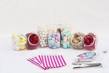 Plastic Sweet Jars Tongs Scoops & Bags Candy Buffet Bar DIY Kit Wedding Party