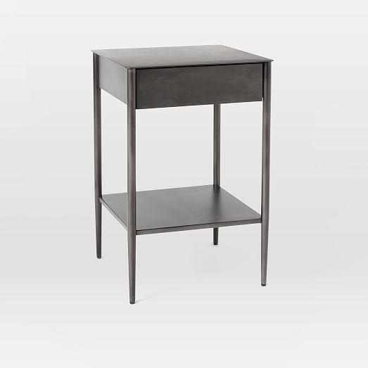 Metalwork Nightstand - Hot Rolled Steel - West Elm :: $300