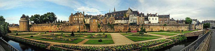Vannes Panoráma Bretagne Franciaország Dave Mills