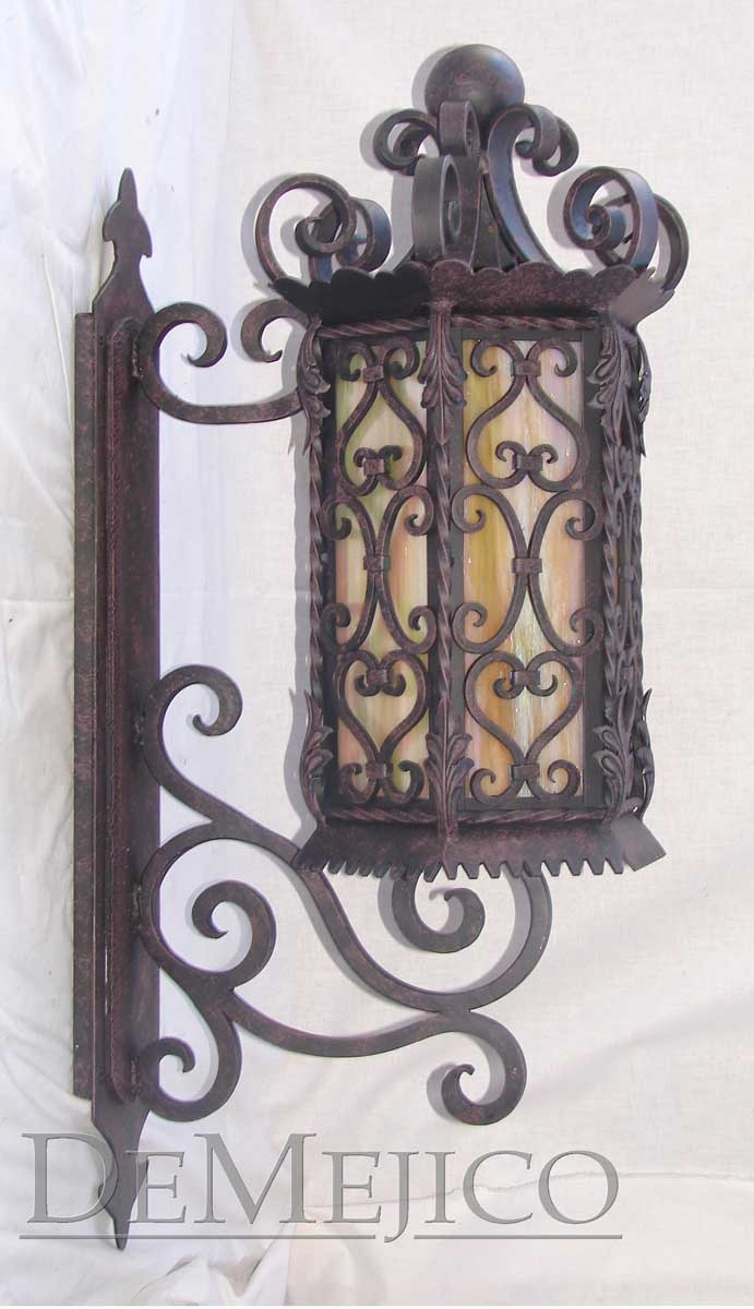 Hand forged iron wall mount
