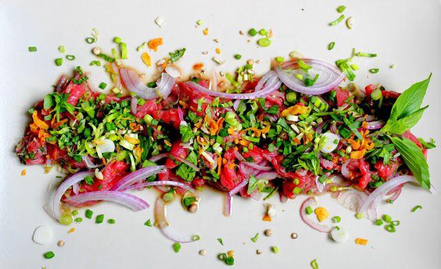 Invitations aux voyages culinaires: T82 - Tartare Vietnamien De Langue De Chat :-)