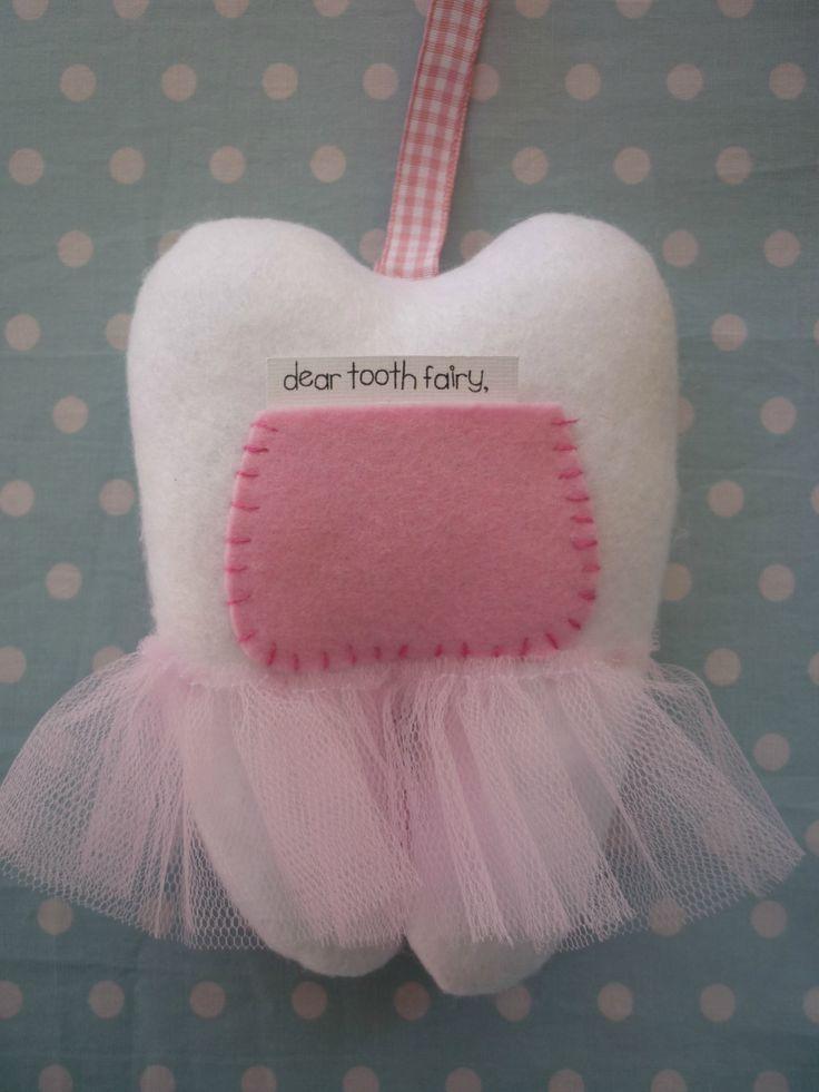 tooth fairy pillow | Bella The Ballerina Tooth Fairy Pillow