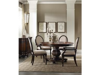 Shop For Hooker Furniture Eastridge 54 Inch Round Pedestal Dining Table Leaf And Other Room Tables Crafted Using Hardwood Solids