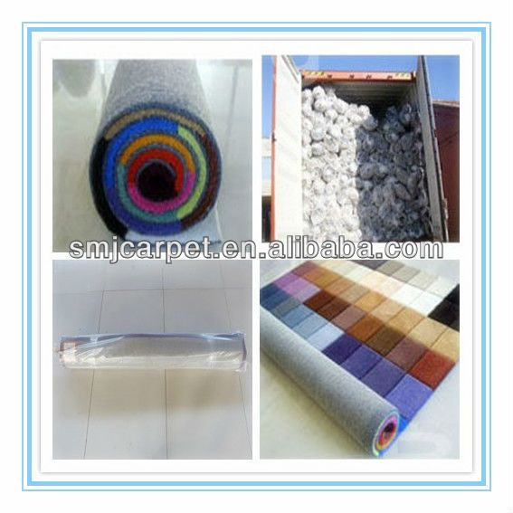 100% silk polypropylene outdoor carpet roll made in china factory