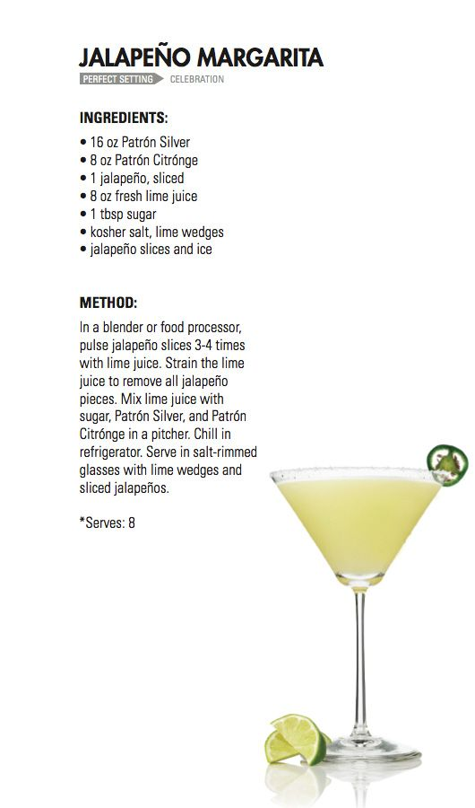 JALAPENO MARGARITA | Patrón Tequila Would probably give me heartburn butttt.... I may try!