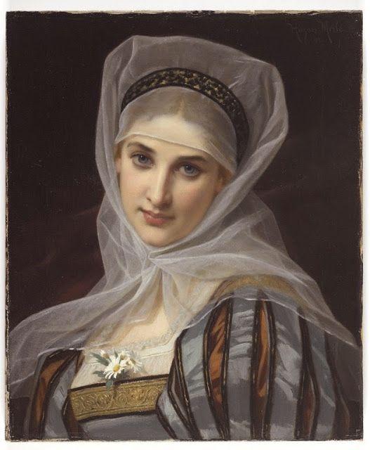 ART BLOG: Hugues Merle : Marguerite 1878: ART BLOG: Hugues Merle : Marguerite 1878