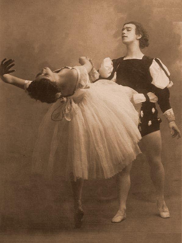 Vaslav Nijinsky and Tamara Karsavina, Giselle.