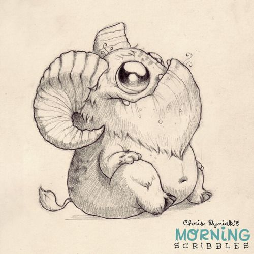 This critter needs a name.  Hoofy? Hornsicle? Robert?  Goat-bot... - Chris Ryniak