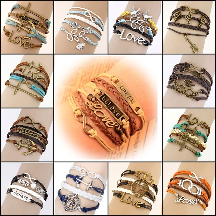 Charm Vintage Multilayer Leather Bracelet