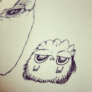 #doodle #illustration #drawing #cute #little #dude #furry #animal
