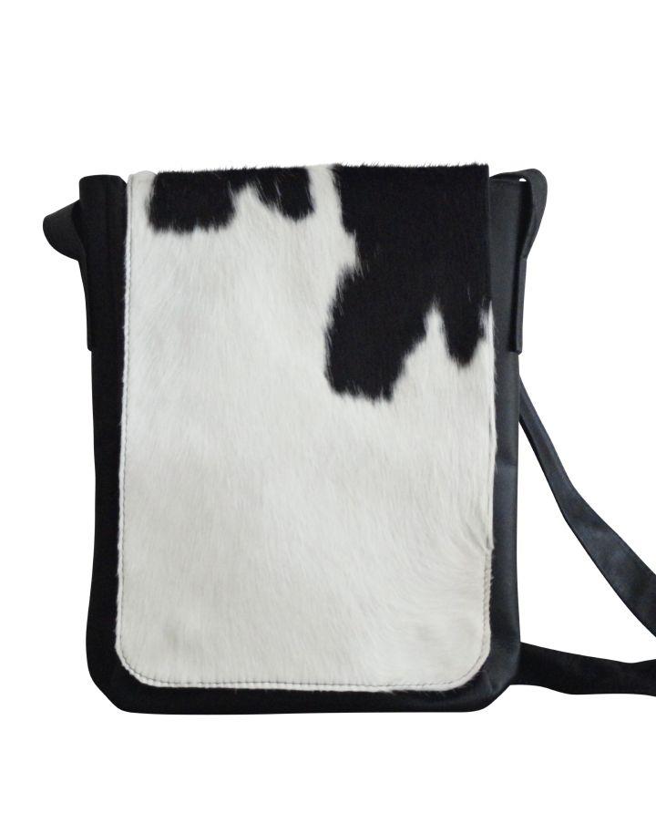 Schouder tas koeienhuid cowhide sholderbag bag cowhide koeienvel tas