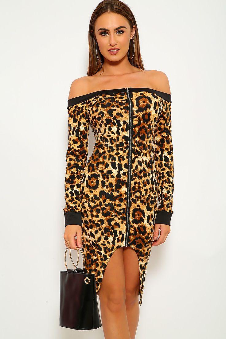 Estampa de leopardo fora do vestido de festa dos ombros   – SEXY PARTY DRESSES!
