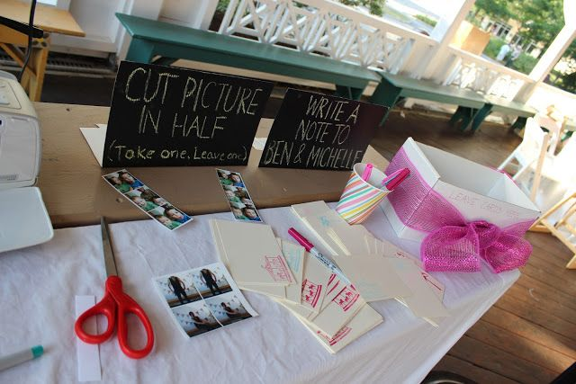 Wedding photo booth and guest book