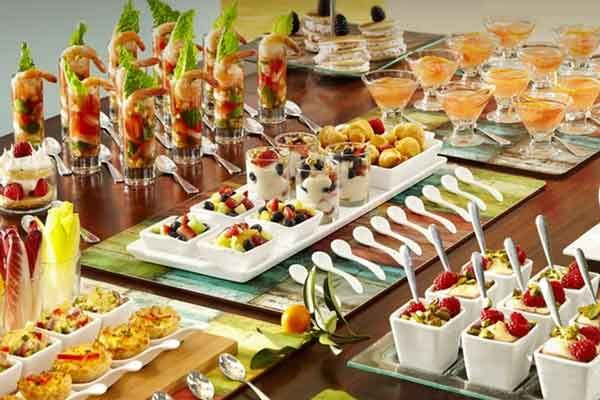 tasting party buffet table