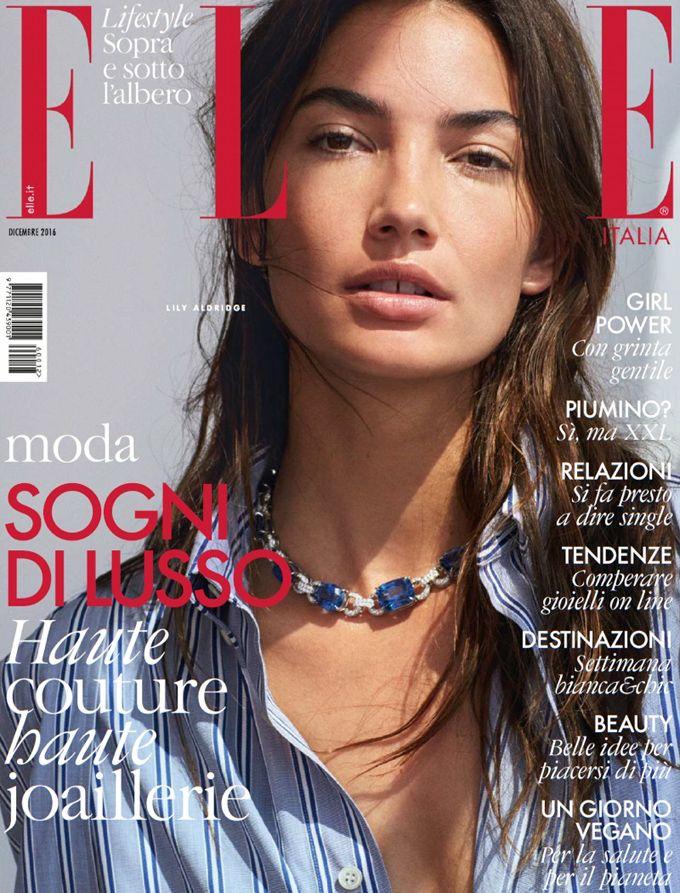 Лили Олдридж на обложке итальянского ELLE (Интернет-журнал ETODAY)